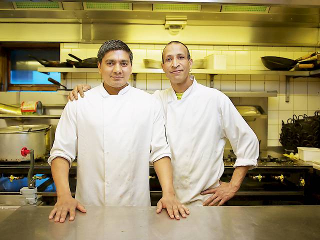 Viceroy chefs at the kitchen pass